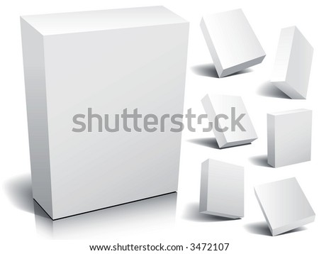 Blank 3d boxes ready to use in your designs.