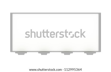 Blank 3D Rendered Billboard on White Background