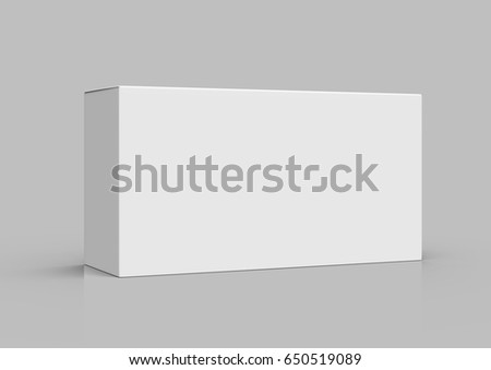 blank 3d rendering roll end tuck top box, isolated gray background stock photo