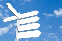Blank Directional Arrow Sign