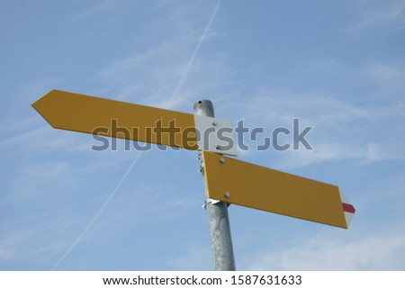 Blank directional signage for ways