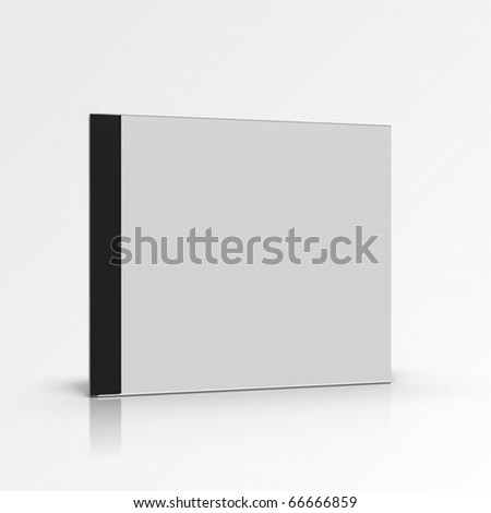 Blank disc box on gradient background