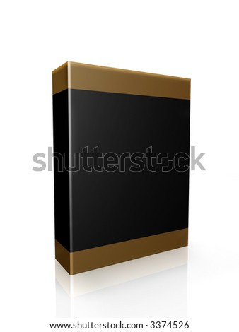 Blank dvd case or product box package with reflection