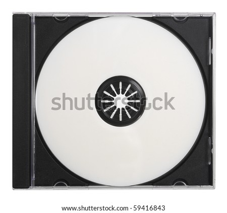 Blank DVD CD with Path
