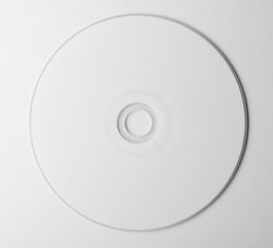 blank dvd disc on white background