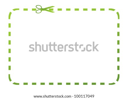 Blank eco green coupon with clipping path and copy space isolated on white background.