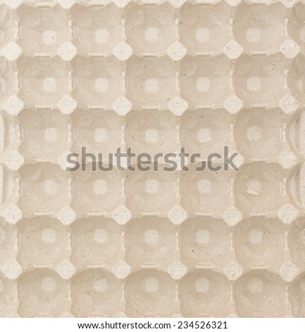Blank eco paper container for eggs. Texture for card design and interior prints