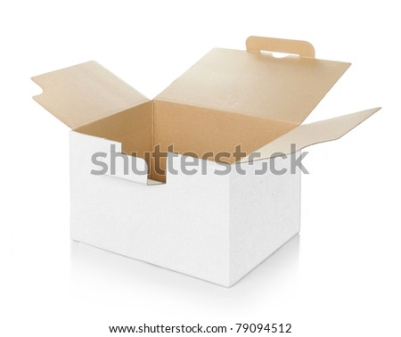 blank empty cardboard box carton container