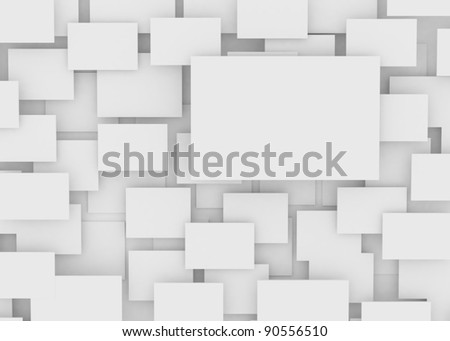 blank empty frame on wall - stock photo