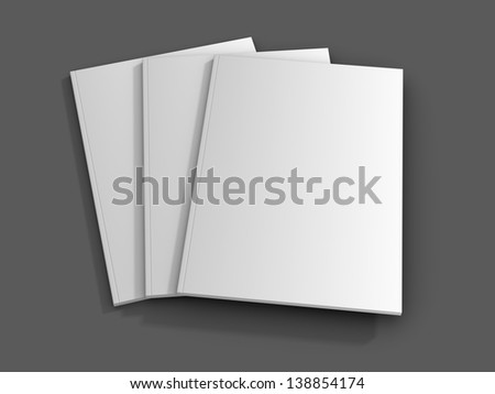 Blank/empty magazine covers on a dark background. #138854174