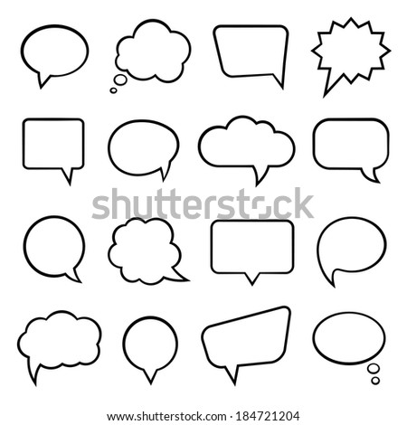 Blank empty speech bubbles for infographics illustration