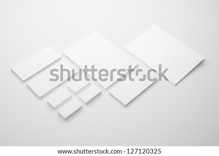 Blank Envelopes Business card Documents and Folder