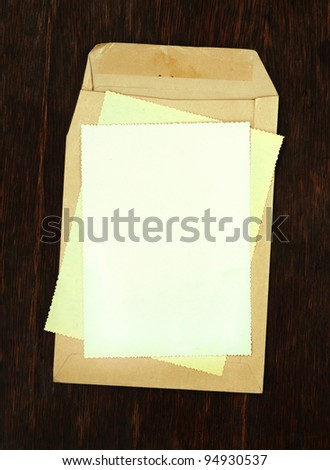 blank envelopes with papers as background