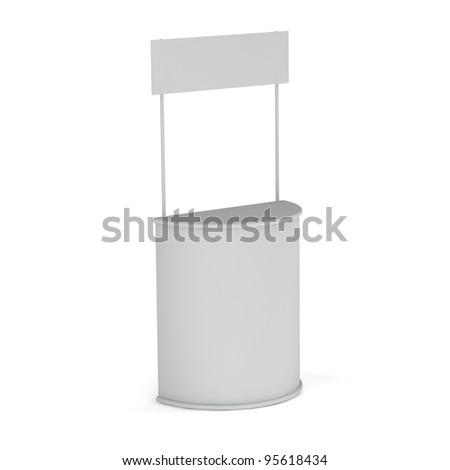 Blank Exhibition promotion counter isolated on white