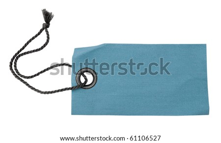 Blank fabric label with ribbon
