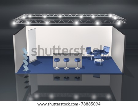Blank fair stand with lighting truss construction above