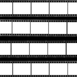 Blank film frames contact sheet analog filmstrip background. Design element.