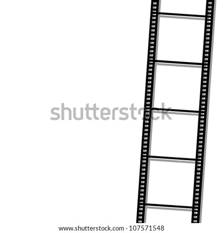 blank film strip on background
