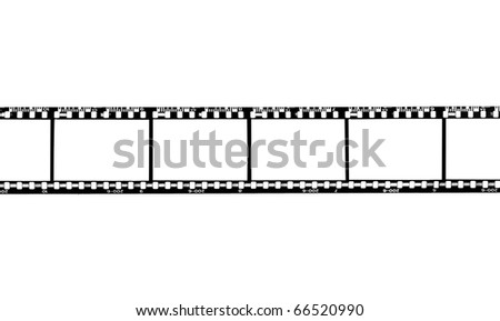 Blank film strip, photo on the white background - stock photo