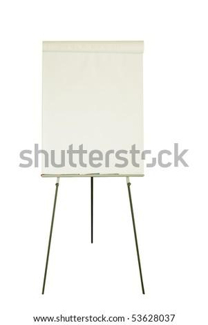 Blank flip chart - stock photo