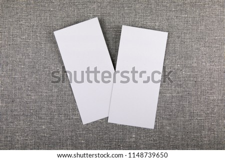 Blank flyer over gray to replace your design #1148739650