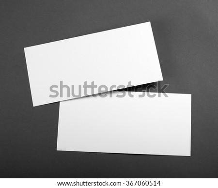 Blank flyer over grey background #367060514