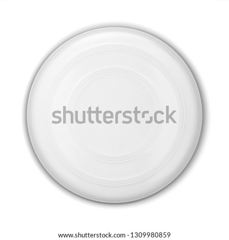 Blank flying disk mockup. 3d illustration isolated on white background