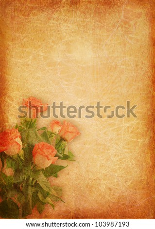 Blank for romantic letter