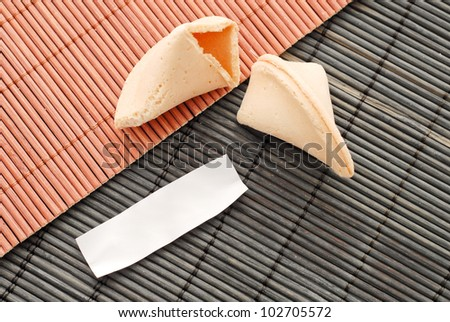 Blank Fortune Cookie Paper