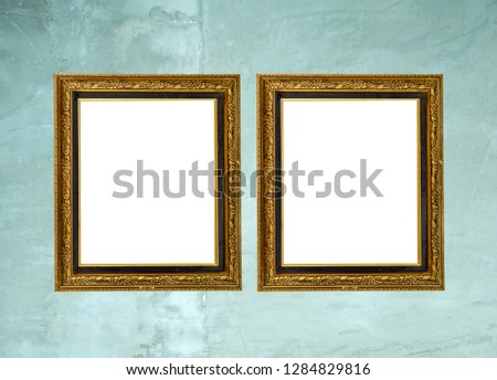 Blank Frames For Posters, Pictures, Arts, Drawings And Print Templates, Mock Up Template On Wall Background, 3D Illustration Ready For Your Design  #1284829816