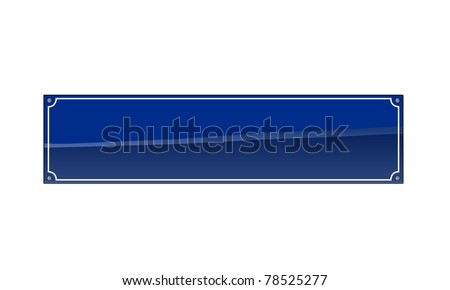 Blank german street name sign - add your text
