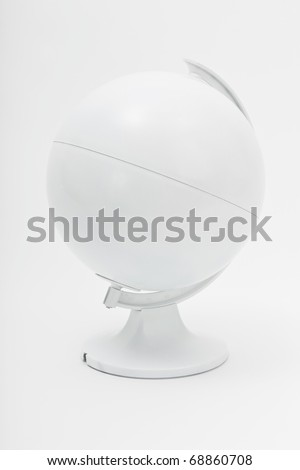 Blank globe model - insert your own design