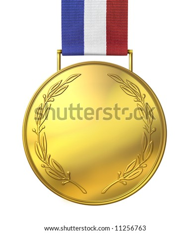 Blank gold medal of honor - stock photo