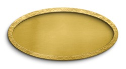 Blank golden sign oval shape