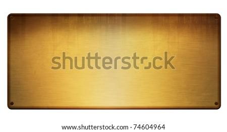 blank golden table