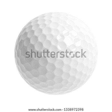 Blank Golf Ball Cut Out on White. #1338972398