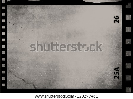 Blank grained film strip abstract grunge texture