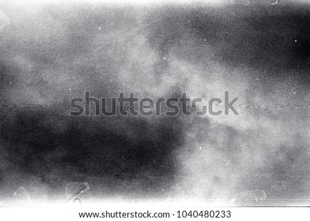 Blank grained film strip texture background with heavy grain and newton rings