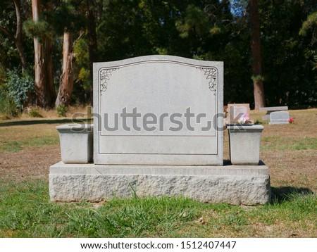 Blank Grave Stone Tombstone Background ストックフォト ©