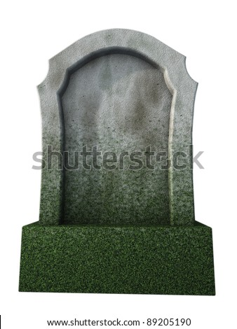 blank gravestone  - 3d illustration