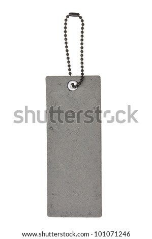 blank gray label isolated on the white background