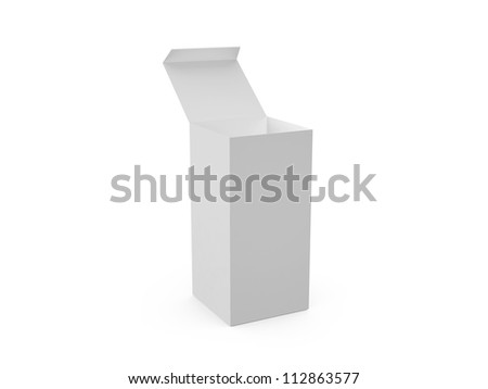 Blank, gray, open pillbox template, isolated on white.