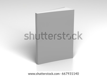 blank gray vertical soft cover...