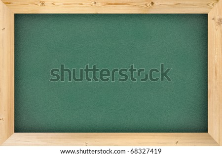 blank green chalk board