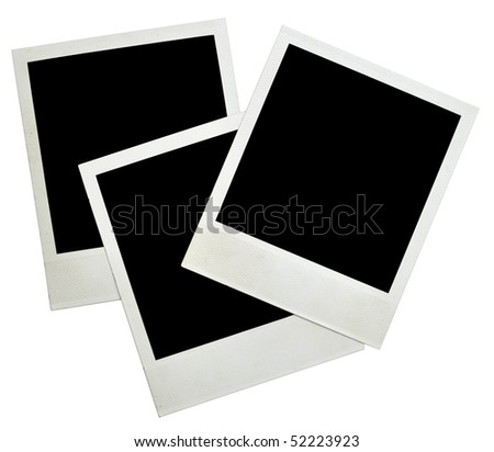 blank grunge photo frame ready to be populated with any image