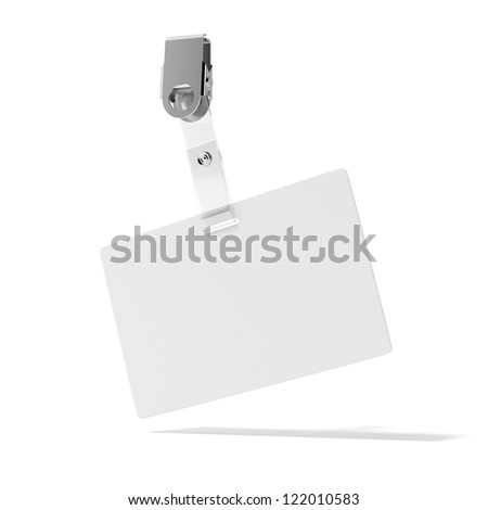 Blank ID Badge isolated on a white background