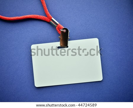 Blank ID card badge - stock photo