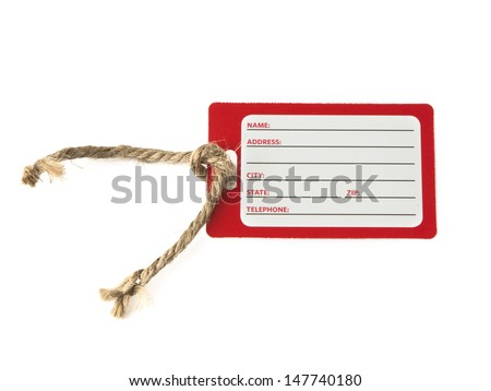 Blank identification card on white background