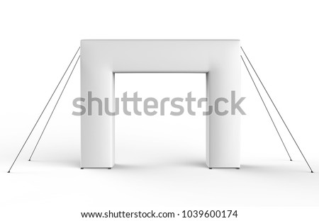 Blank Inflatable square Arch Tube or Event Entrance Gate. 3d render illustration.