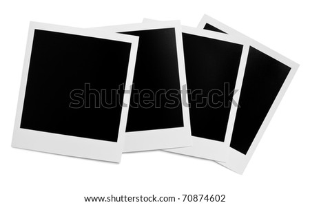 Blank instant photo frames